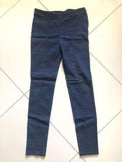 Paisley Print Blue Trousers