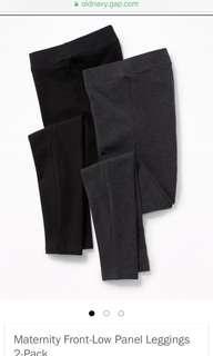 OLD NAVY Low Front Panel Leggings XS Black & Grey
