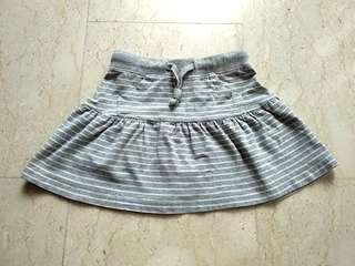 Grey mini skirt for girls