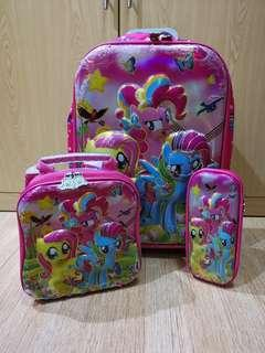Luttle pony trolley bag set