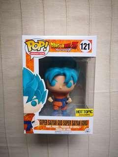 Super Saiyan God Super Saiyan Super Saiyan Blue Goku Funko Pop Hot Topic Exclusive