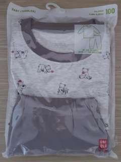 UNIQLO toddler's long sleeve pajamas 幼童長袖家居服