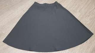 Black half circle skirt