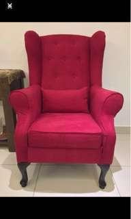 Custom High Back Arm Rest Chair