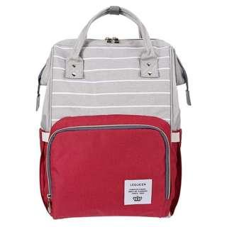 🚚 ❤ On-hand : Red Stripe Diaper Bag/ Mommy Bag