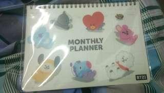 BT21 Monthly Planner