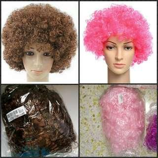 Free Mail Afro wigs for adults. Party Halloween magic show
