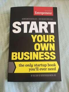 Starting your own business book