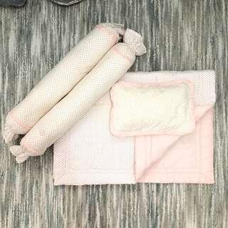 Zyji Baby Beddings & Pillows (Pink Polka Dots)