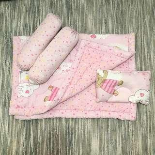 Baby Beddings & Pillows (Pink Bear)