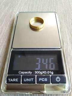 🔥$54/g 916 Gold Ring