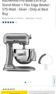 NEW KitchenAid Professional 6 quart 575 W stand Mixer