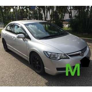 Monthly Car Rental Honda Civic $1400