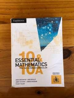 Cambridge Essential Mathematics 10 and 10A Textbook