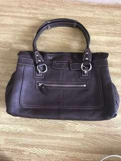Authentic Coach Bag - Dark Brown Leather (almost new)