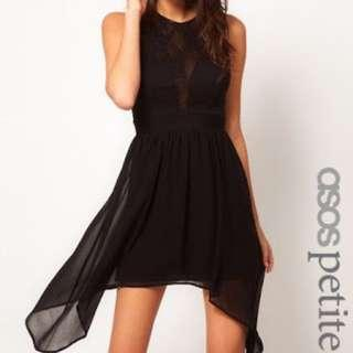 🌸 ASOS PETITE dress with lace insert