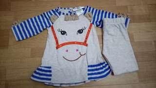 Rare Editions branded Pony top and pants set