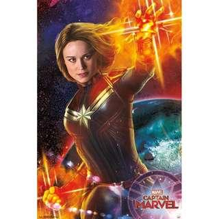 Captain marvel promo movie poster