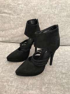 Kookai black heels 36