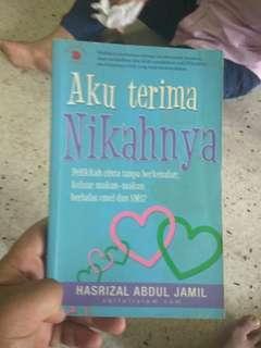 Preloved book aku terima nikahnya