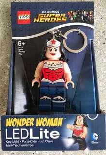 DC Comics Wonder Woman Key LED Lite Ring - NEW