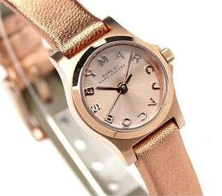 Authentic Marc Jacobs Henry Dinky MBM 1298 Rose Gold Watch