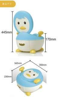 企鵝小馬桶(藍色)