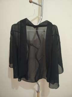 Black Kimono Outer Flowy