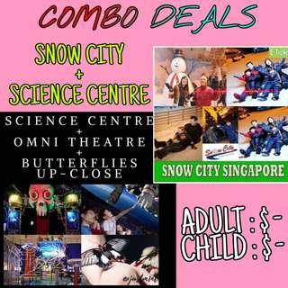 Snow city + Science centre combo offer