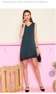 🚚 ACW ASYMMETRICAL WAVE TIERED DRESS M