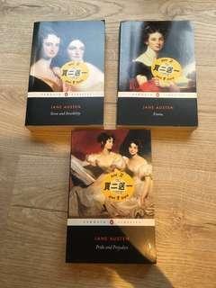 英文小說 Jane Austen $15一本
