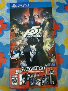 Persona 5 Take Your Heart Edition (Game/Steelbook not included!!!)