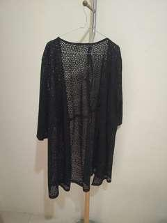 Black lace outer
