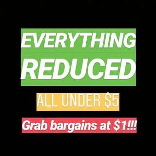 EVERYTHING MUST GO! $1 CLOTHING