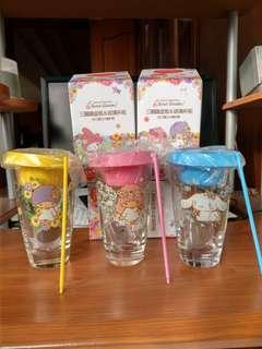 三麗鷗盆栽玻璃杯(一個100)