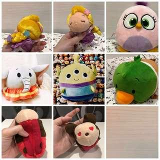 (SWIPE FOR MORE PICS) PLUSH TOYS for sale - clearing in 24 hours