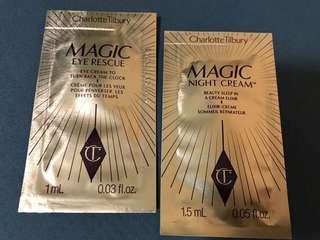 Charlotte Tibury Magic eye cream and night cream