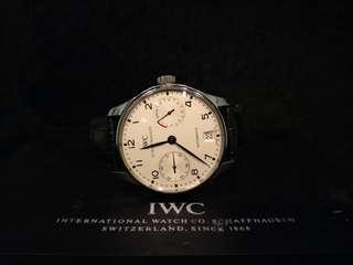 IWC Portuguese seven days power reserve white dial