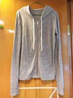 American eagle outfitters knitted hoodie sweatshirt ~ heather grey color