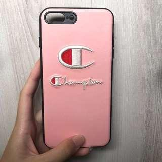 Iphone 7 / 8 PLUS Champion Embroidered Pink Phone Case