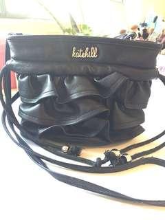 Black Ruffle Kate Hill bag