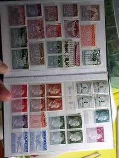 2 pages Third Reich stamps