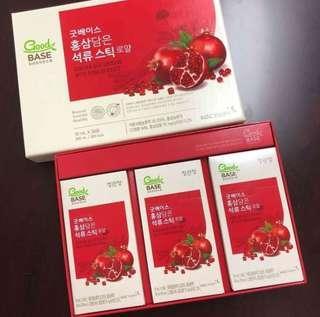 正官庄高麗蔘紅石榴精華飲口服液 10ml x 30包