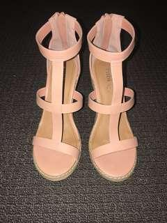 Rubi Nude/Peach Caged heels