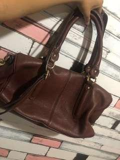 Steal Genuine Leather Handbag Brown Leather