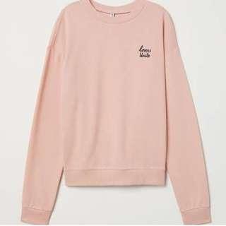 h&m sweatshirt pink
