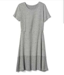 GAP Short Sleeve Ribbed Dress