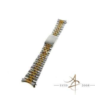 19mm Original Tudor Jubilee SS/Gold Filled Bracelet 6248-19 End link 597