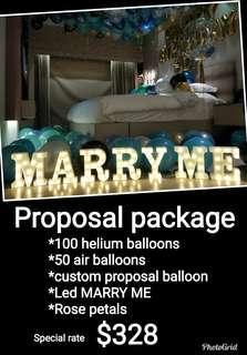 Wedding proposal Valentine's day surprise