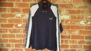 Vintage Puma Sports Jacket L/XL White & Navy FREE POST